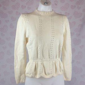 Vintage St. John Peplum Sweater